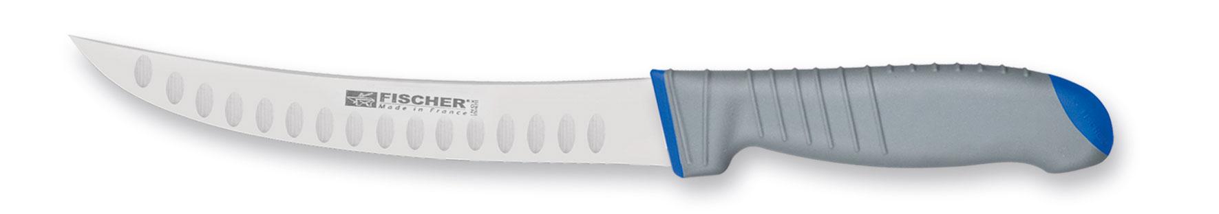 Couteau à parer lame courbe alvéolée 25 cm